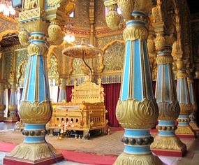 Golden Throne Despite The Strict No Photography Rule I Managed To Snap A Shot Of It Without Guards Armed With Machine Guns Noticing Palace Had