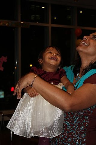 Myrah and I share a laugh