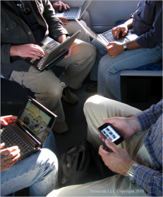 Electronic devices on train