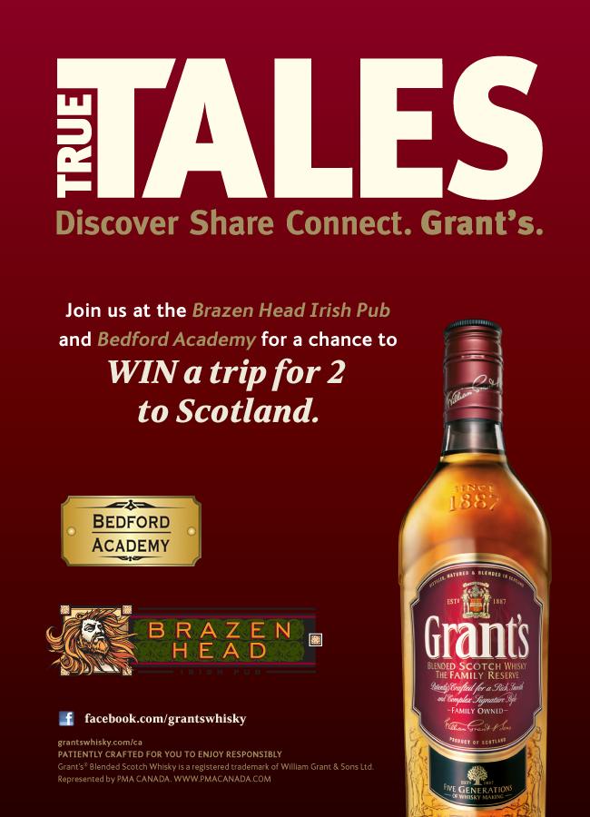 Grant's True Tales Series in Toronto April 4 - April 26, 2012