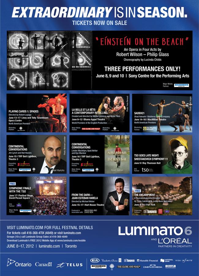 Luminato 2012 :: June 8 - 17, 2012