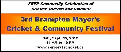 Brampton Mayor's Cricket Festival