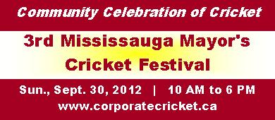 Mississauga Mayor's Cricket Festival