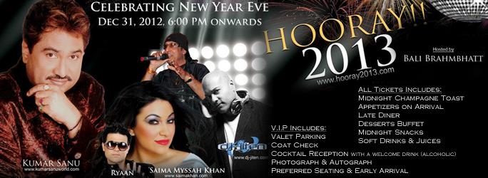 Hooray 2013 NYE Gala