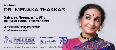 Tribute to Menaka Thakkar