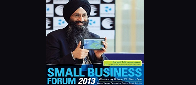 Suneet Singh Tuli Keynotes at Small Business Forum 2013
