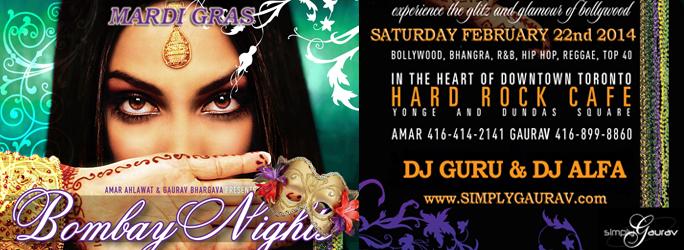Bombay Nights: Mardi Gras