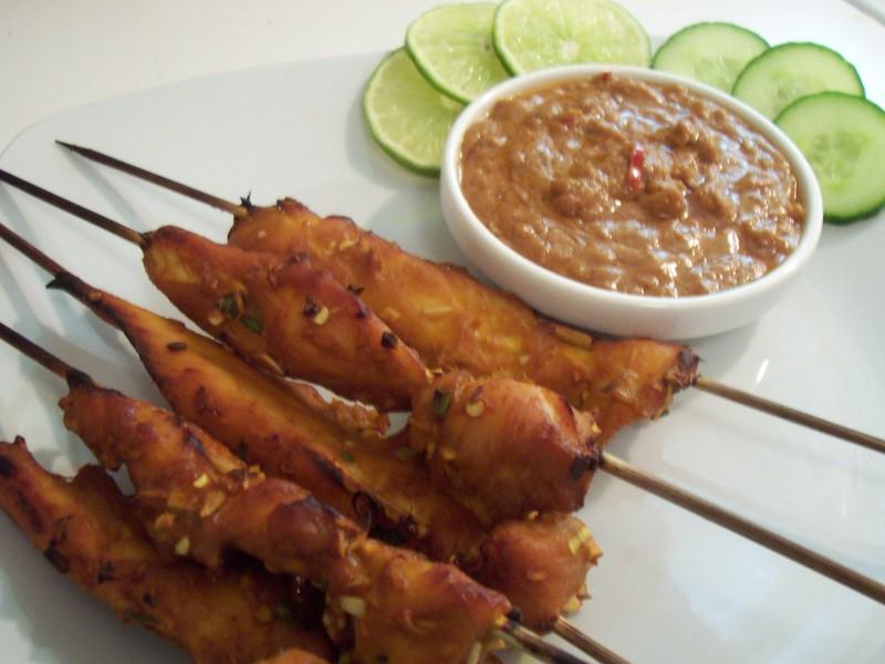 Kitchen Confidential: Chicken Satay with Peanut Sauce